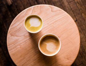 2 cups of turmeric latte