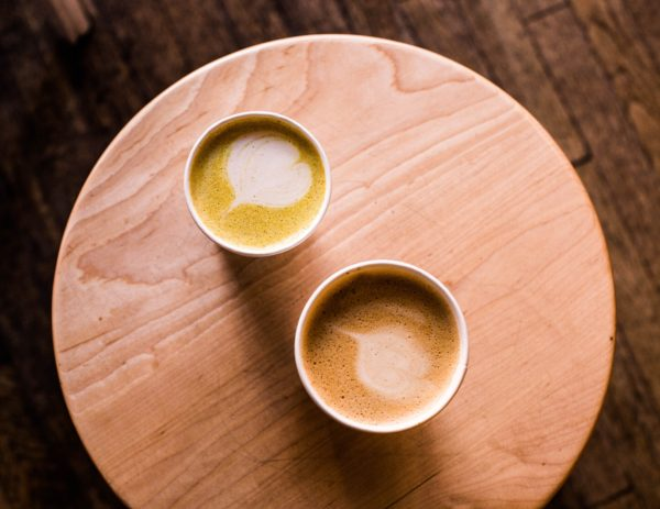 2 cups of turmeric latte