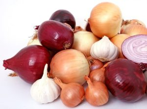 Picture of onions and garlic