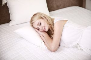 woman having a good night's sleep